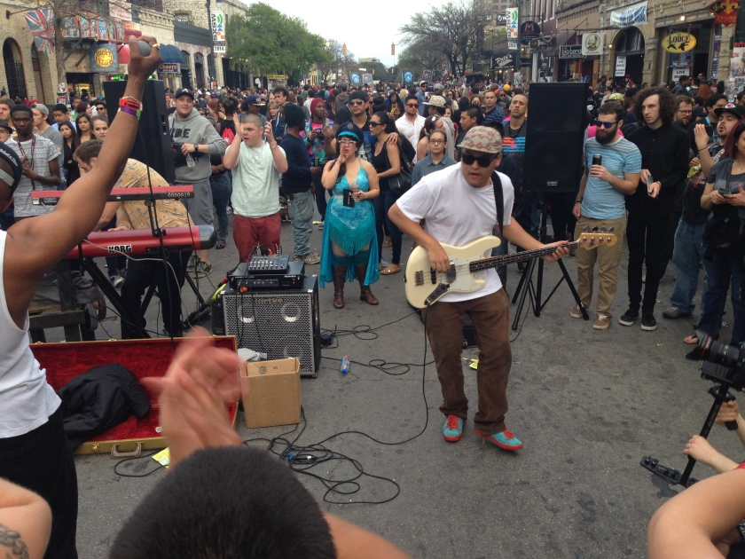 Amazing street performance by a group out of Seattle :: SXSW 2014